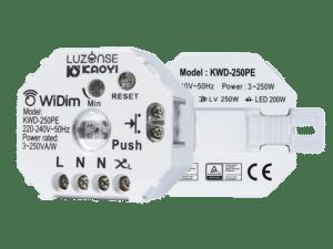 WiDim aktuator front og bakside